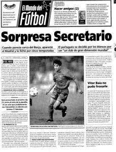 Carlos Secretario ficha por el Real Madrid 1996