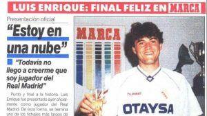 Luís Enrique ficha por el Real Madrid en 1991