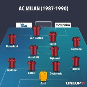 ONCE INICIAL DEL MILAN DE SACCHI (1987-1990)