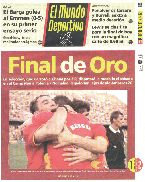 España a la final Olímpica Barcelona 1992