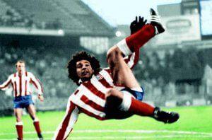 Hugo Sánchez chilena Atlético de Madrid