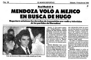MENDOZA VIAJA A MEXICO EN BUSCA DE HUGO