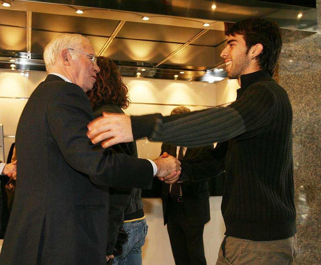Oleguer y Luis Aragonés 2005