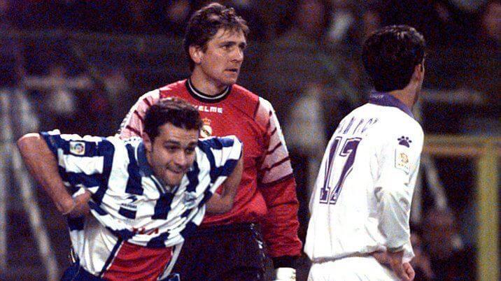 Pedro Riesco gol en el Bernabéu 1998