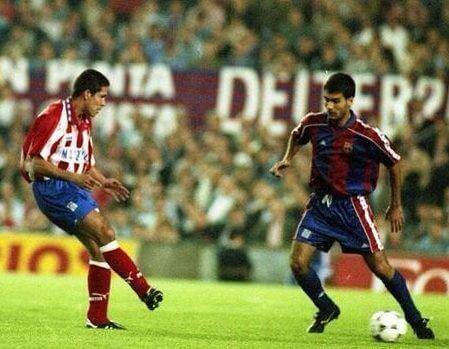 Simeone y Guardiola 1994