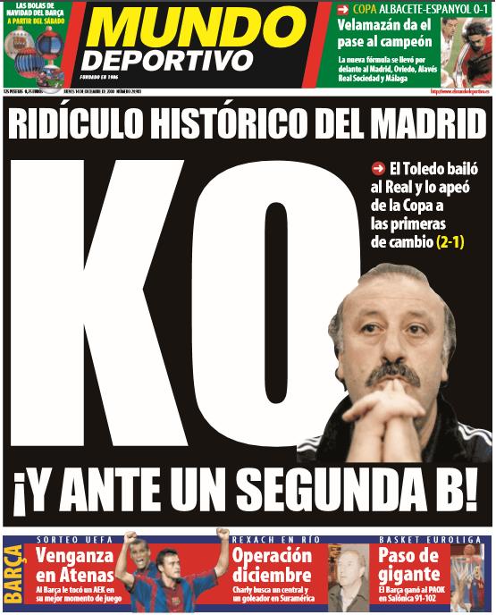 Toledo 2 Real Madrid 1 2000