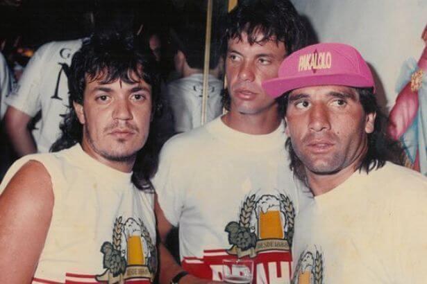 Carlos Kaiser (left), Gaúcho y Renato Gaúcho