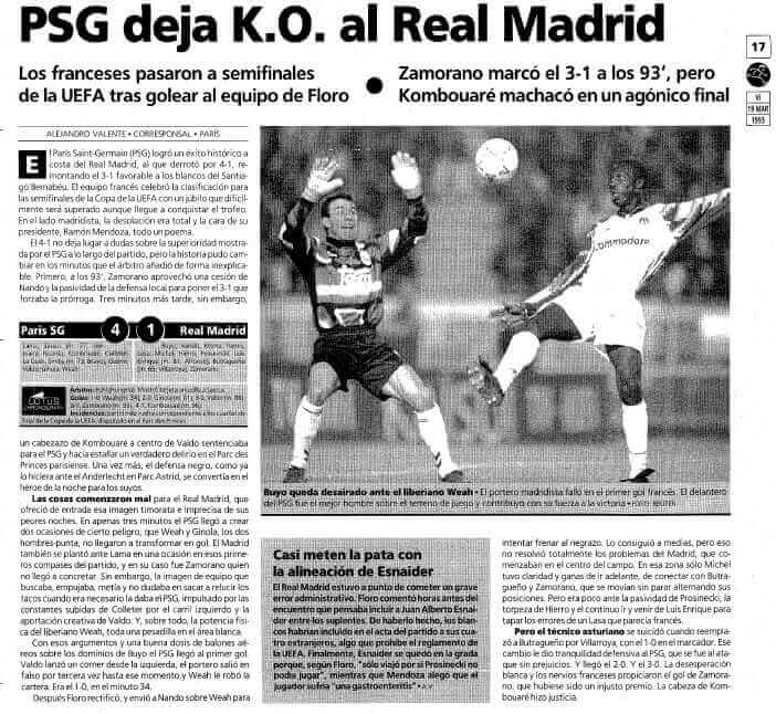 PSG REAL Madrid 1993