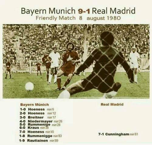 Bayern 9 Real Madrid 1 1980
