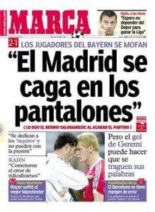 El Madrid se caga en los pantalones