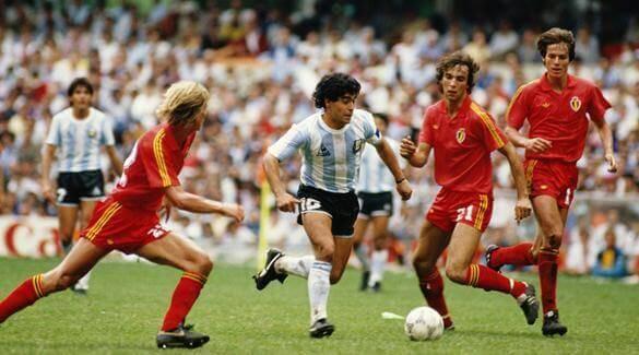 maradona argentina bélgica 1986