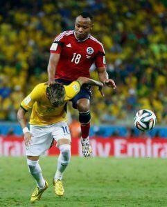 Mundial Brasil 2015 neymar lesion zuniga