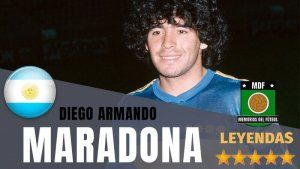 Diego Armando Maradona Leyenda Memorias del Fútbol