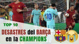 mayores humillaciones del Barcelona en la Champions League