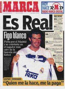 El fichaje de Figo por el Real Madrid