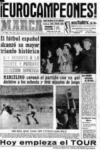 Final Eurocopa 1964 españa 2 urss 1