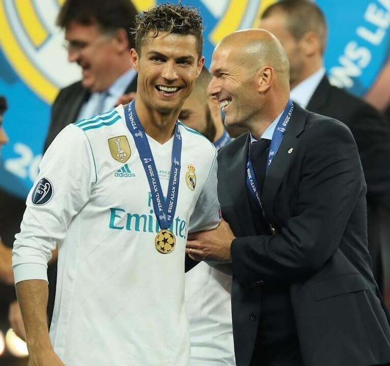 Cristiano Ronaldo y Zidane Champions 2018