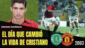 Cristiano Ronaldo sporting-manchester 2003