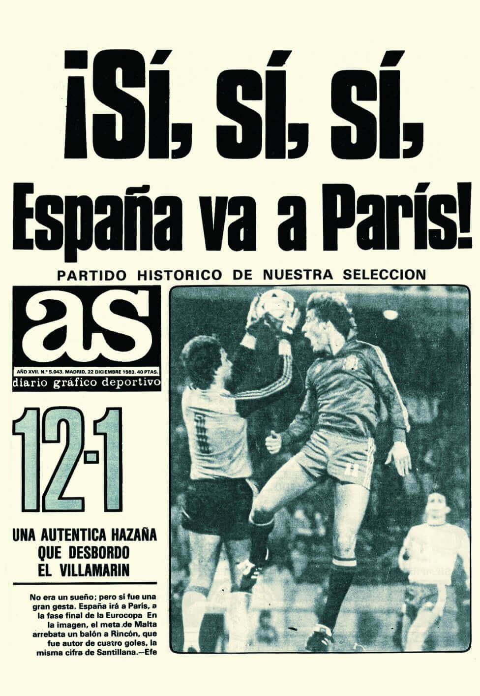 ESPAÑA 12 MALTA 1 1983
