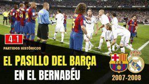 El Pasillo del Barcelona al Real Madrid