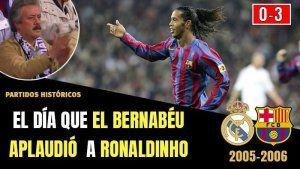 El BERNABEU Ovaciono a Ronaldinho