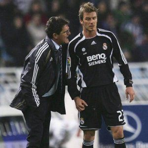 Capello Beckhan Real Madrid 2006-2007