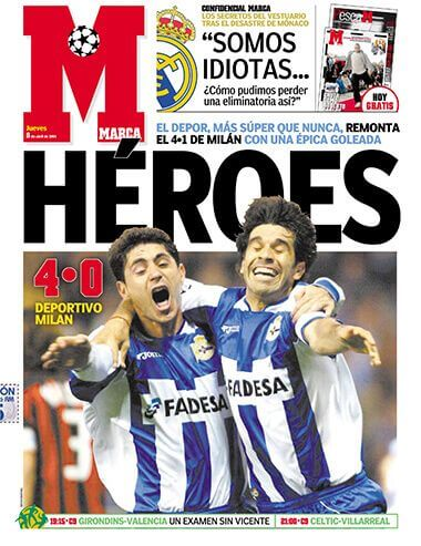 Deportivo 4 milan 0 remontada champions 2004