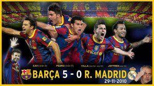 Barcelona 5 Real Madrid 0 Clásico 2010