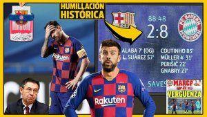bayern 8 barcelona 2 champions 2020
